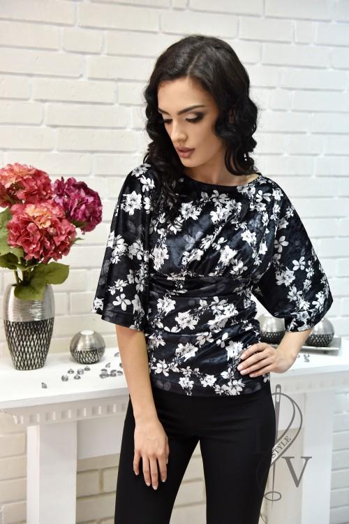 Блуза с кимоно ръкав