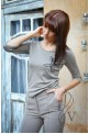 Capuchino blouse with applique