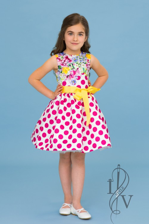 Boutique Children's Dress with Dots