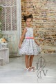 Children's lace dress with CORAL belt