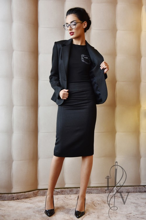 Classic ladies black suit