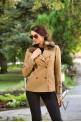 Късо палто с подвижна кожена яка
