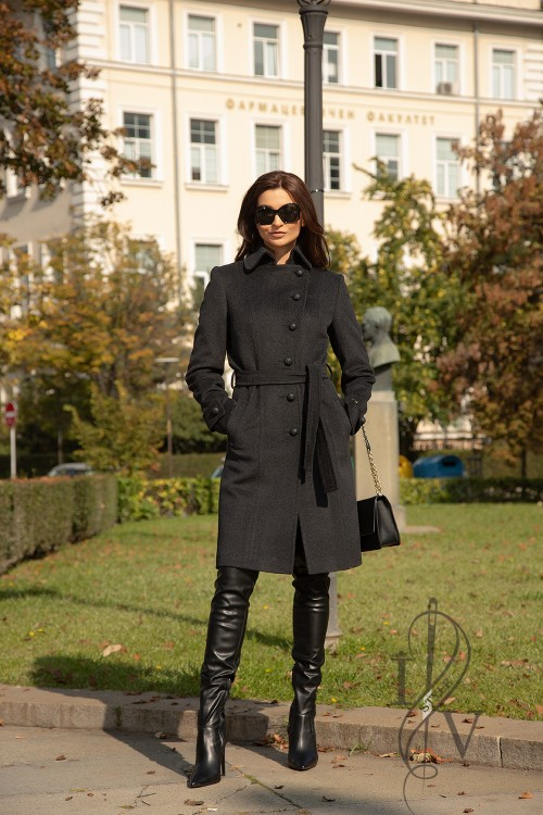 "Coat anthracite ""CLASSIC STYLE"""