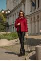 """Short burgundy coat """"FRENCH"""""""