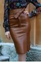 "Brown leather skirt ""Brown Sugar"""