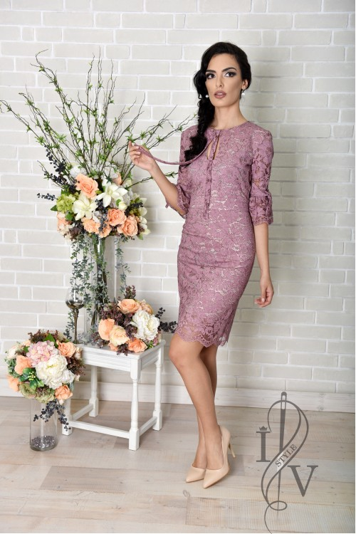 "Lace Dress in ""Rose Ashes"""