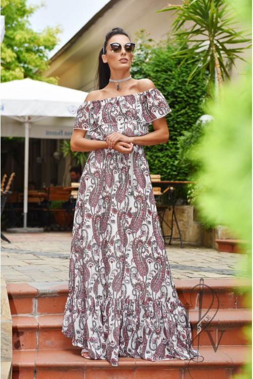 Дълга рокля с чокър
