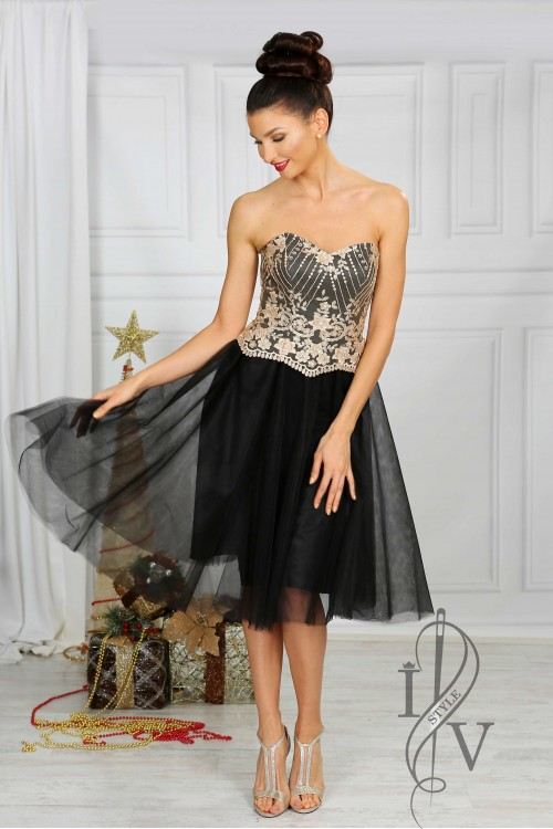 "Dress ""Black & Gold"""