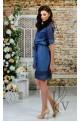 Sporty-elegant dress of denim and lace