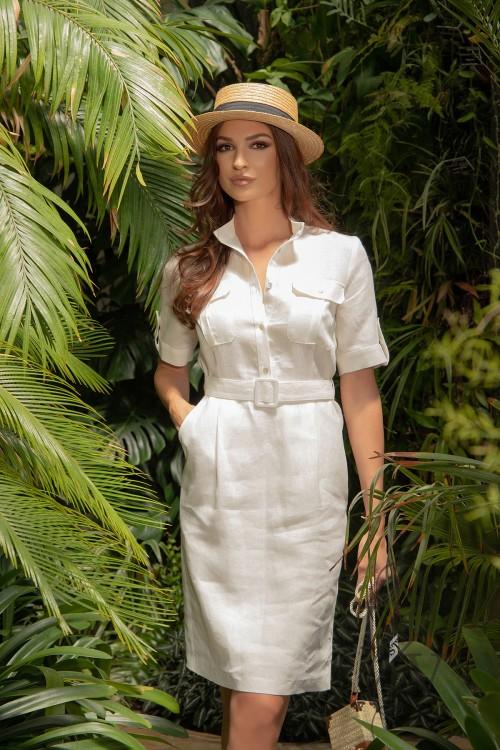 """Safari dress """"OFF WHITE"""""""