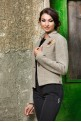 """Jacket """"SIMPLY TAUPE"""" with flower"""